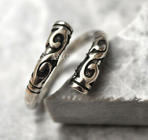 Antique 925 Silver Plt Ornate Tribal Ring / Thumb Ring Adjustable  gift
