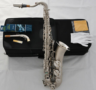Professional Satin Nickel C Melody Saxophone Abalone shell High F# sax 2 Necks , used for sale  China