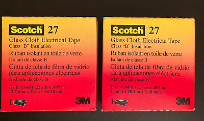 3m Scotch Cloth Electrical Tape 27 Class B Insulation Size 12 In X 66 Ft. Set 2