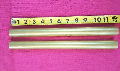 2 Pieces 1 Dia. C360 Brass Solid Round Rod 12 Long New Lathe Bar Stock H02