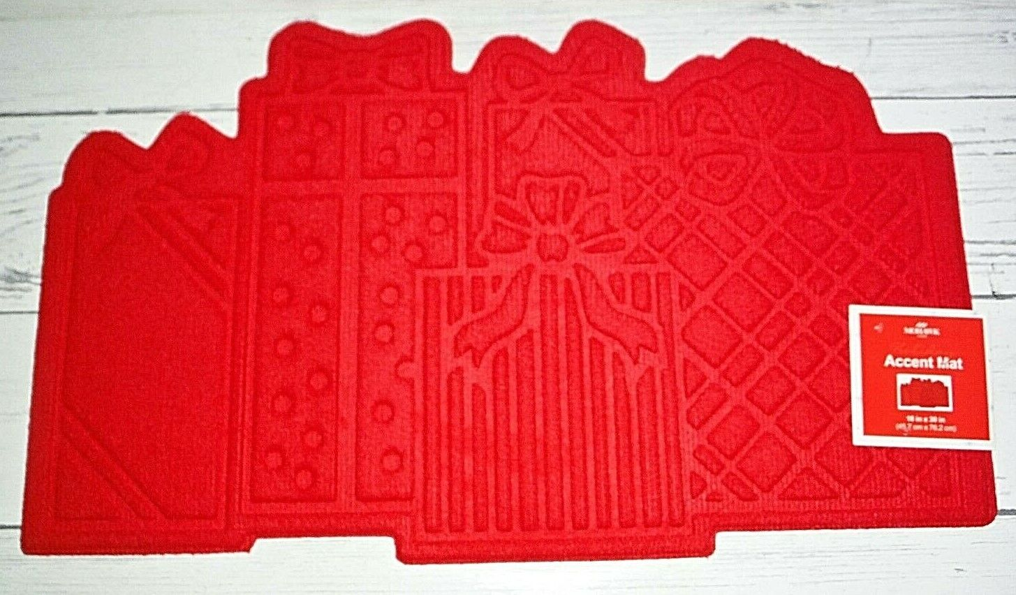 """New Red Mohawk Home Christmas Presents 18"""" x 30"""" Heavy Door"""