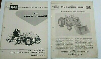 Lot 2 Ford Tractor Loader Series 711 19-101 Operating Assembly Manual