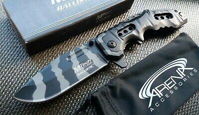 Urban Camo Tiger Stripe Tactical Blade EDC Spring Assist Great Grip Pocket Knife