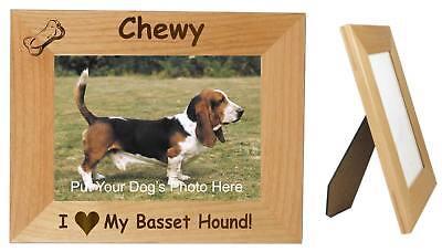 Basset Hound Photo Frame - Basset Hound Photo Frame Dog Personalized Free Wood 4