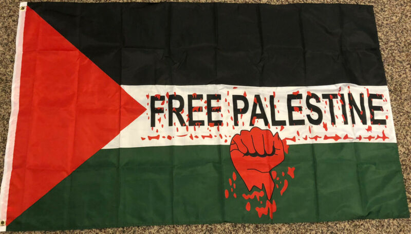 NEW FREE PALESTINE 3x5ft FLAG superior quality fade resist us seller