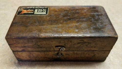 Vintage Brown and Sharpe 124 Parallels in original Mahogany wood box