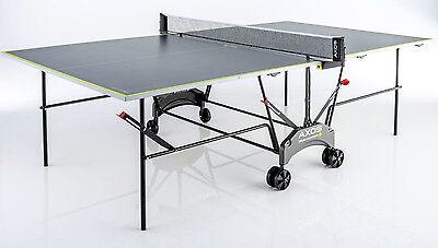 Kettler Axos Outdoor 1,Outdoor Tischtennisplatte grau/gelb, TT-Platte wetterfest