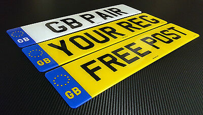 PAIR GB NUMBER PLATES FRONT & REAR SAME REG 100% MOT LEGAL 1ST CLASS FREEPOST