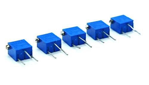 Bourns 3262 12-Turn 1 Meg-ohm Trimmer Pot Potentiometer Blue  Lot of 5 New