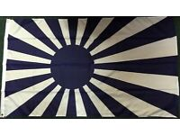 """Japan Rising Sun 6/"""" x 4/"""" Desk Table Flag with Gold Plastic Cone Base"""