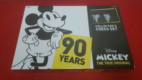 Disney MICKEY MOUSE 90th Anniversary CHESS SET NEW