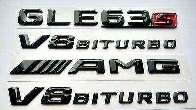 Mercedes GLE63s AMG (V8 Biturbo)x2 schwarz glänzend Schriftzug-Embleme