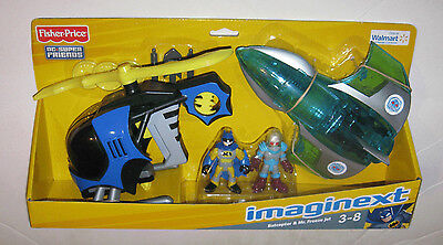 Imaginext DC Super Friends Exclusive Batcopter & Mr. Freeze Jet Fisher-Price NEW