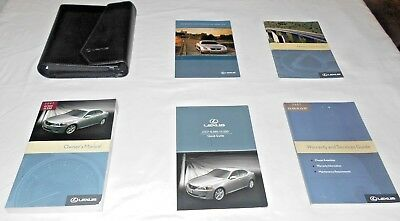 2007 LEXUS IS 350,IS 250 OWNER MANUAL 6/PC.SET & LEXUS LEATHER FACTORY CASE //