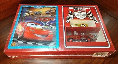 Cars (Blu-ray/DVD, 2009, 2-Disc Set, Ultimate Gift Pack; With Die-Cast Cars)NEW