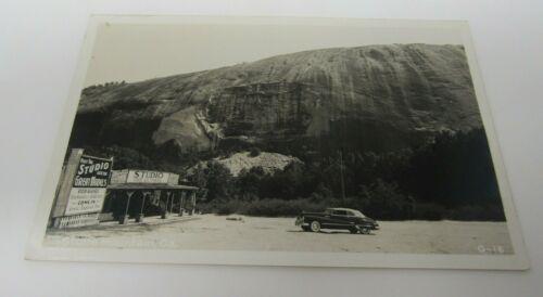 Stone Mountain Georgia Postcard RPPC Real Photo Studio Free Lectures Car EKC