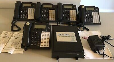 Esi Ivx-e-class Gen Ii Digital Phone System Voice Mail 6 Phones Untested