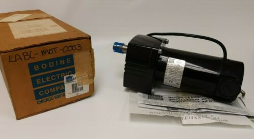 NEW IN BOX Bodine 33A5BEPM-E2 Parallel Shaft DC Gearmotor 1/4Hp 130V 250RPM 15:1