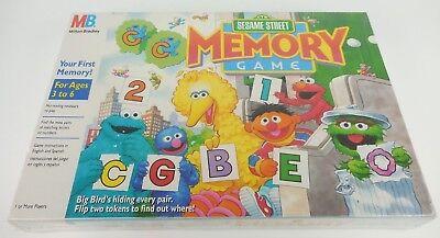 Sesame Street Memory Game (Sesame Street Memory Matching Game Milton Bradley Vintage 1991 Brand New Sealed! )