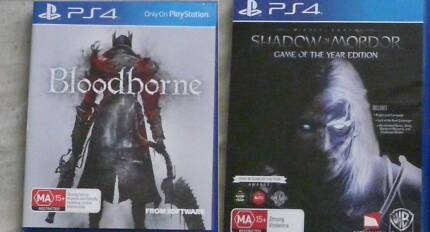 PS4 Bloodborne and Middle Earth Shadow of Mordor GOTY