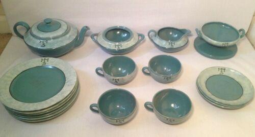 Nice 18 Pc. Saturday Evening Girls/Paul Revere Pottery Set
