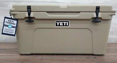 Yeti 65 Tundra Cooler  Tan    New In The Yeti Box   Free Shipping