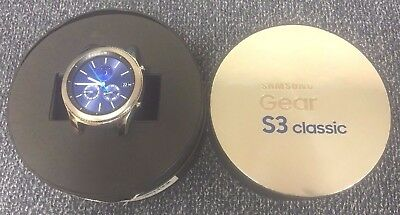 NEW INBOX Samsung Gear S3 Classic SM-R775 Bluetooth Watch Built in GPS Silver