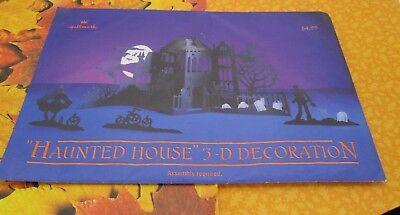 HALLMARK HALLOWEEN BOO BAZAAR HAUNTED HOUSE 3D PAPER CASTLE FRANKENSTEIN NEW  (Halloween Frankenstein Castle)