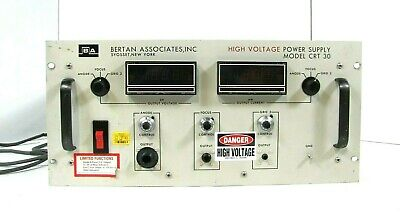 Bertan Associates High Voltage Power Supply Crt 30 Good Working