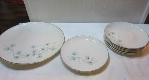 Taylor Smith & Taylor Versatile Blue Lace MIXED LOT OF 8 PLATES  ,