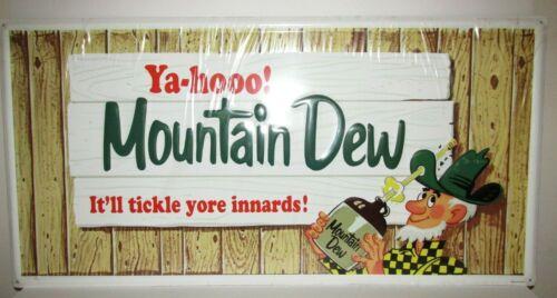 "31"" Large Vintage Mountain Dew Soda Gas Station Ad Ya-hooo! Hillbilly Metal Sign"