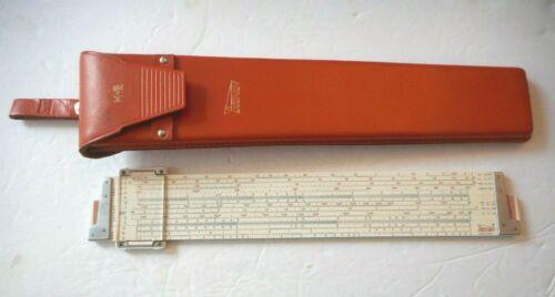 VTG Keuffel & Esser K&E DECI-LON 68-1100 Slide Rule with Leather Case