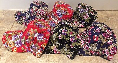 (Fashion Embellished Baseball Style Hat or Cadet Cap Floral Flowers NEW 3 Colors )