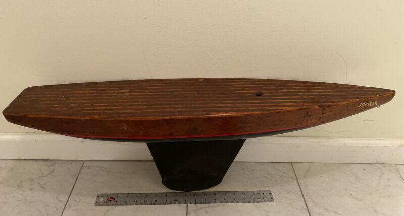 """Antique 36 """" Jupiter Wood Sail Pond Boat Yacht Steel Keel"""