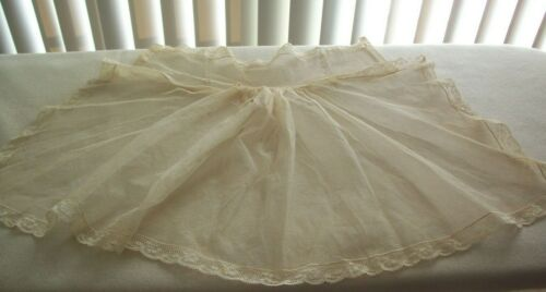 Vtg  Antique Victorian Lace Trim Dickie Bodice Frill Stays Collar Dolls/Crafts