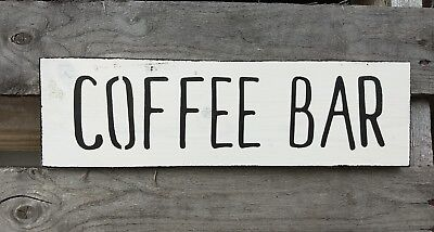 farmhouse wood sign COFFEE BAR sign wooden home rustic kitchen welcome small 12