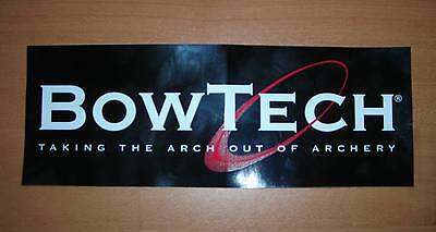 Two (2) Bowtech Archery - Black Stickers / Decals - Sharp - Free Shipping
