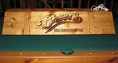 Cheers Pool Table Poker Bar Pub Billiards Wood Light Lamp