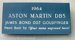 1-8th-ASTON-MARTIN-DB5-1964-BUILD-YOUR-OWN-MODEL-ENGRAVED-NAME-PLAQUE-EP113
