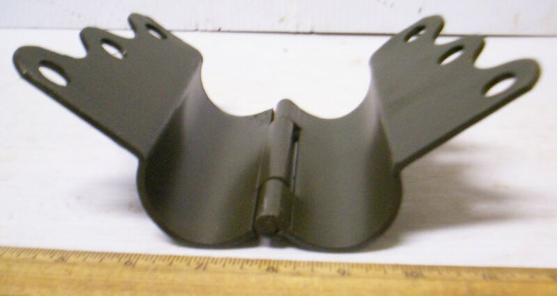 Heavy Duty Hinged Clamp for Guy Stake or Mast for Radio - P/N: SC-C66291 (NOS)
