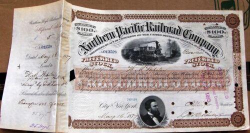 Northern Pacific Railroad Company 1880s brown