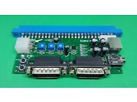 Minigun advanced v1.7 bare PCB open source supergun JAMMA arcade game adapter