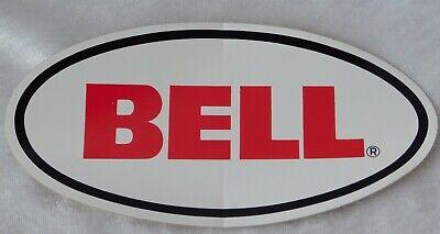 "VTG 1980's BELL MOTORCYCLE HELMET RACING ADVERTISING STICKER DECAL 8"" x 4"""