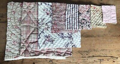 Vintage Time Worn In Quilt Pieces- Antique Durham Welsh Scrap Pack Floral Bundle