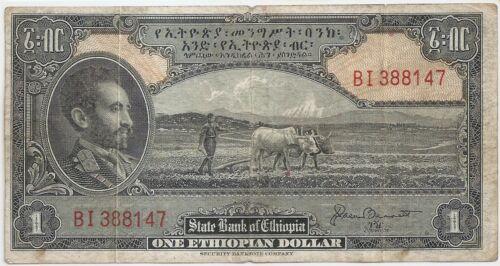 Ethiopia 1 dollar ND (1945) sign. 2
