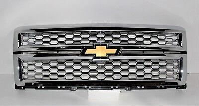 2014 2015  Chevy Silverado 1500 Grille CHROME OEM LTZ Oem Chrome Grille