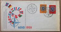 Fdc - Olanda Netherlands - 1959 - Nato (navo) - Nvg - Annullo Figurato -  - ebay.it