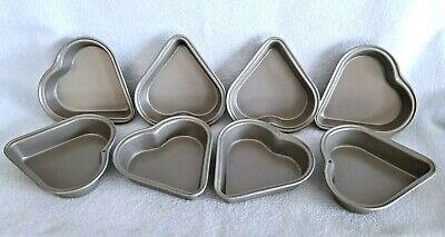 8 MINI WILTON HEART PANS NON STICK  Cake Jello Mold Baking 4
