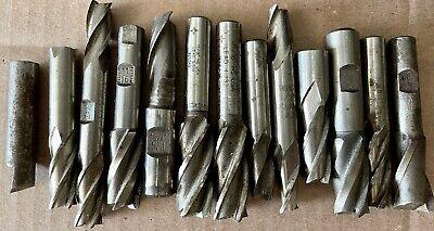 13 Piece End Mill Lot High Speed Steel Hss 12 1116 58 34 Putnam Pw Weldon