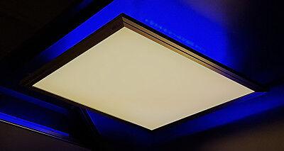 2000 Flat Panel (LED Panel Decken Leuchte FLAT nickel 2500 Lumen 42x42 CCT dimmbar RGB Backlight)